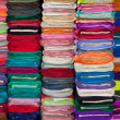 Colorful Fabrics and Textiles in Store — Stock Photo