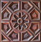 Old Wooden Carved Panel — Stock Photo