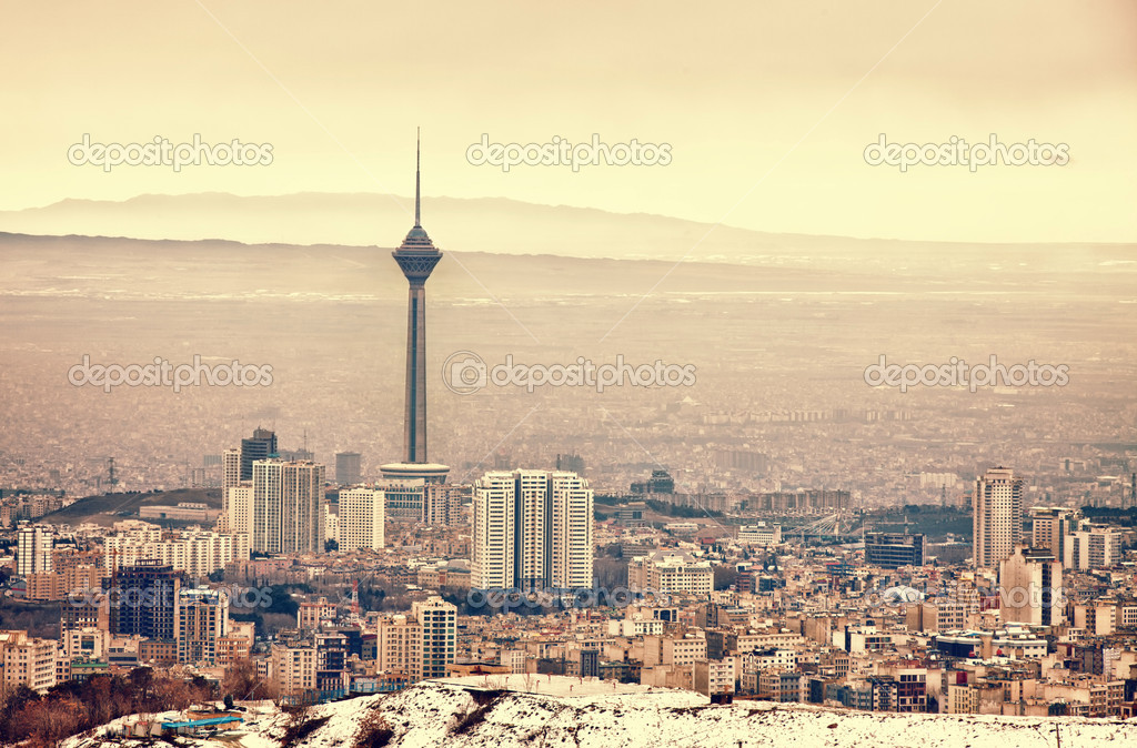 Tehran skyline with panoramic view of the city.  Stock Photo #11963286