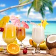 Fruit cocktails — Stock Photo #11058537