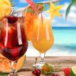 Fruit cocktails — Stock Photo #11058736