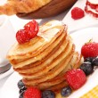 Plate of pancakes — Stock Photo