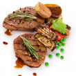 Grilled steaks — Stock Photo #11059635