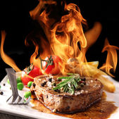 Delicious beef steak — Stockfoto