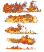 Brand vlammen collectie op wit — Stockfoto
