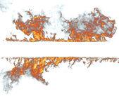 Feu flammes collection sur blanc — Photo