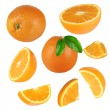 Stock Photo: Fresh orange collection over white background