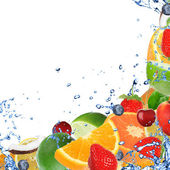 Fresh fruit background — Stock Photo