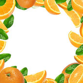 Oranges background — Stock Photo