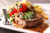 Grilled beef steak — Stok fotoğraf