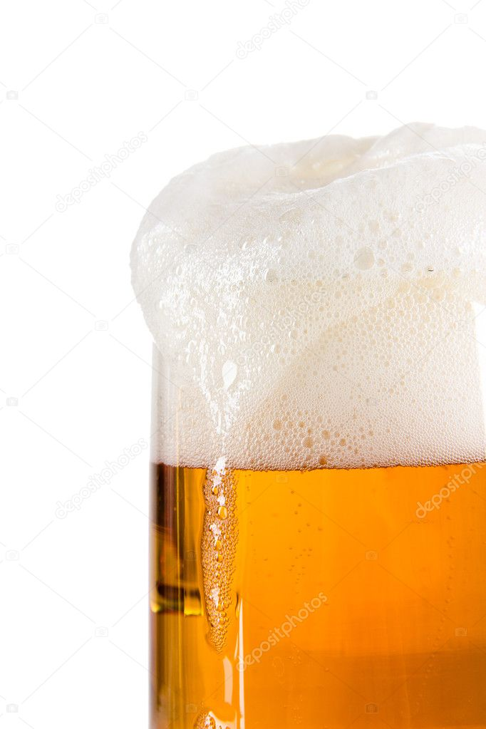 Beer glass over white — Stock Photo #11828114