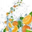 Royalty-Free Stock Photo: Fresh fruit in water splash