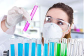 Female researcher — Stock Photo