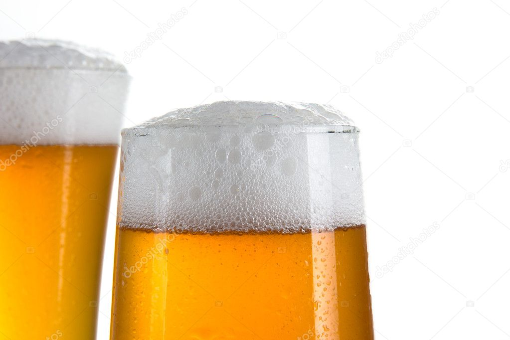 Beer glasses over white — Stock Photo #12012543