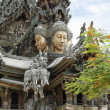 Wooden temple Sanctuary of Truth in Pattaya — Stock Photo