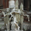 Sculptures in a temple of Thailand — 图库照片