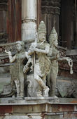 Sculptures in a temple of Thailand — Stock Photo