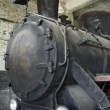 Antique steam locomotive — Stock Photo