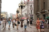 Arbat walking street in Moscow — Stock Photo
