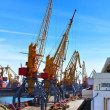 Stock Photo: Sea commercial port
