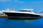 Yacht anchored — Stock Photo