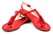 Two red sandals — Stock Photo