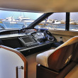 Steering wheel yacht — 图库照片