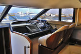 Steering wheel yacht — Foto Stock