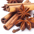Cloves, anise and cinnamon — Stock Photo