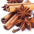 Stock Photo: Cloves, anise and cinnamon