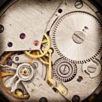 Mechanical clockwork. Close up shot. — Stock Photo