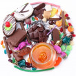 Stock Photo: Sweets in the form of circle. Isolated on white