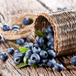 Blueberries have dropped from the basket — Stock Photo #11955626