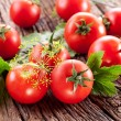 Tomatoes, cooked with herbs for the preservation — Stock Photo #11957667