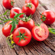 Tomatoes, cooked with herbs for the preservation — Stock Photo #11957708