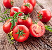 Tomatoes, cooked with herbs for the preservation — Stockfoto