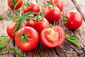 Tomatoes, cooked with herbs for the preservation — Foto Stock