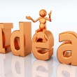 The word Idea with figure — Stock Photo