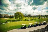 Golf cars — Stock Photo