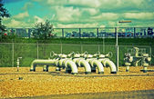 Landscape with pipes — Stock Photo