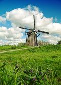 Old dutch windmill — Stock Photo