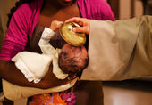 Baptizing of baby — Stock Photo