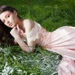 Beautiful and sensual girl in nature — Stock Photo