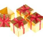 Four Small Gift Boxes — Stock Photo