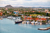 Tropical Harbor On Aruba, Oranjestad — Stock Photo