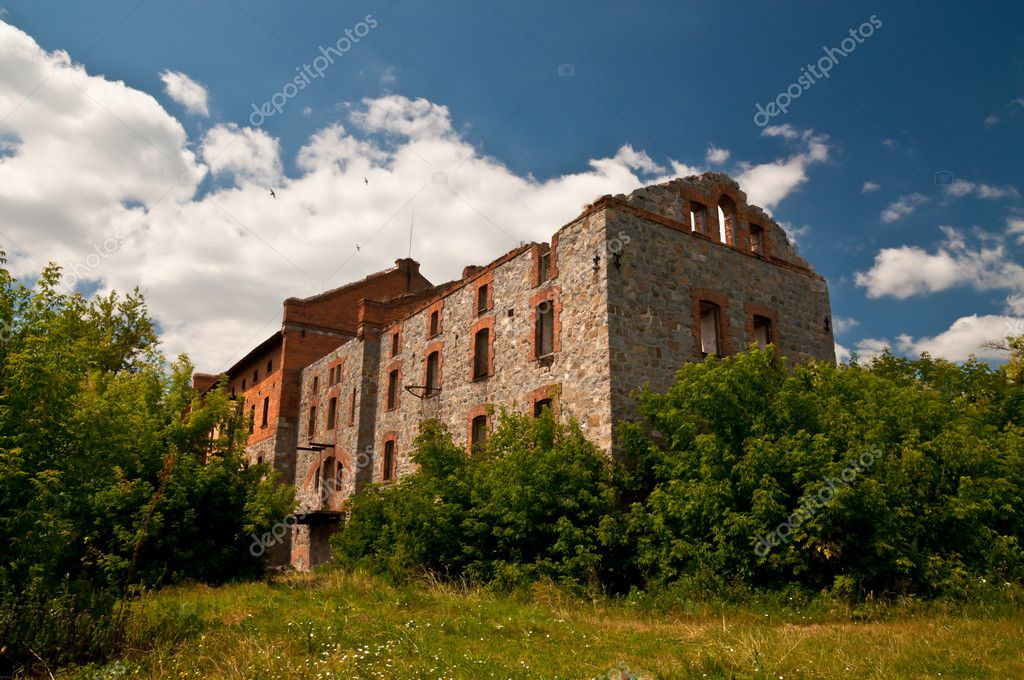 Destroyed factory of the 19th century, Busheve, Kiev region, Ukraine — Stock Photo #11652926