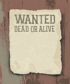 Wanted dead or alive. Vintage poster — Stock Vector