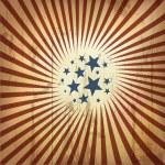 American patriotic retro background. Vector, eps10 — Stock Vector #11301936