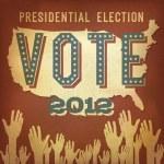 Presidential election 2012. Retro poster design, vector, EPS 10. — Stock Vector #11302060