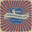 Independence Day Retro Style Abstract Background. Vector illustr - Imagen vectorial